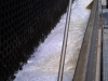 Excessive foam in cooling tower basin