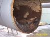 Transported deposit in condenser water piping
